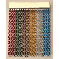 Cortina cadena aluminio varios colores