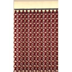 Cortina cadena aluminio rojo