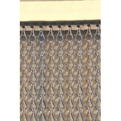 Cortina cadena aluminio plata