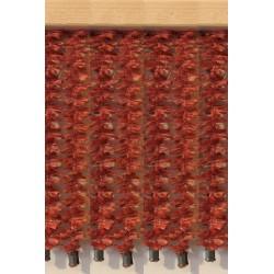 Cortina pita rojo coral