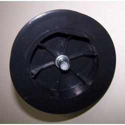 Polea pvc con espiga 120-140 milímetros eje 40 cinta 9-14-16 milímetros