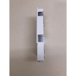 Vista lateral tapa cajón persiana, testero
