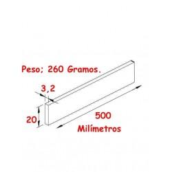 Medidas y peso del contrapeso.