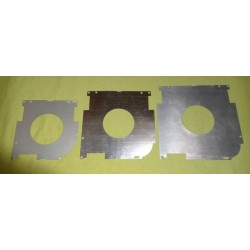 tres tamaños de placas contención