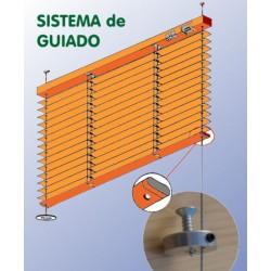 veneciana esquema del sistema de guiado con sirgas para ventanas oscilobatientes