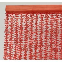 rojo coral cortina pita