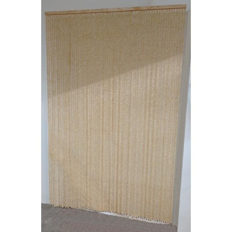 cortina en color natural paja