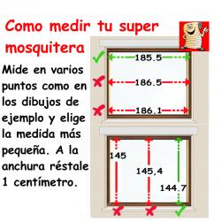 como tomar medidas de mosquitera enrollable
